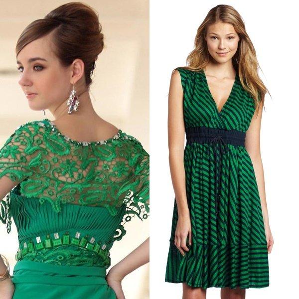 красивые зеленые платья на фото