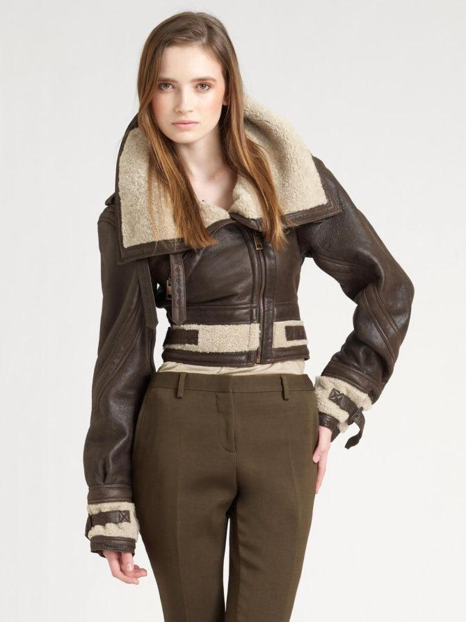 Женская куртка авиатор