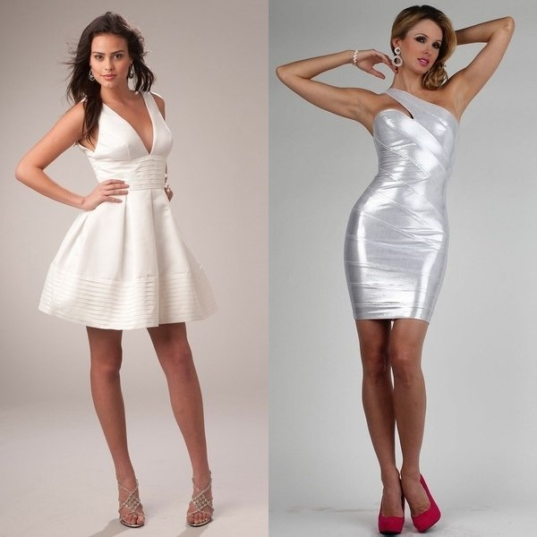 атласное платье на фото