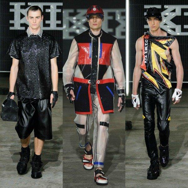 Модели на подиуме Недели мужской моды сезона весна-лето 2016