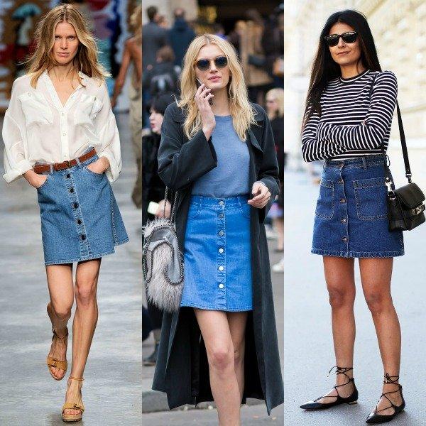 Фото девушек, которые показывают как носить джинсовые юбки современно и стильно