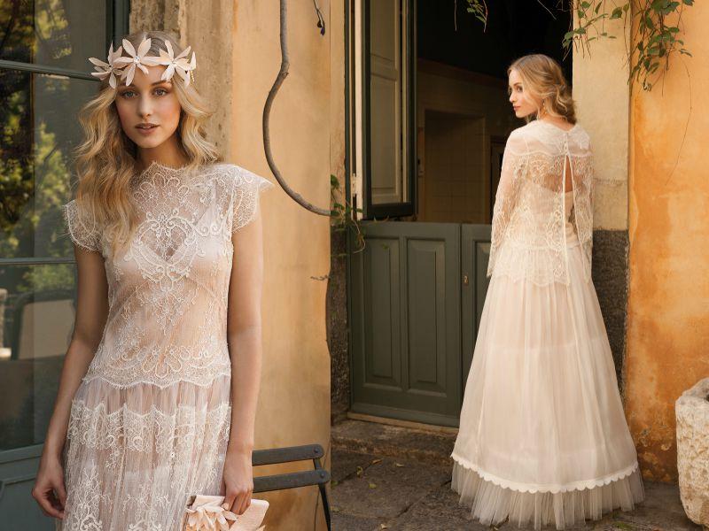Кружево и воздушные ткани в свадебных платьях