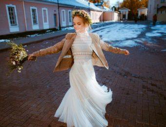 Женственные свадебные платья в стиле бохо шик