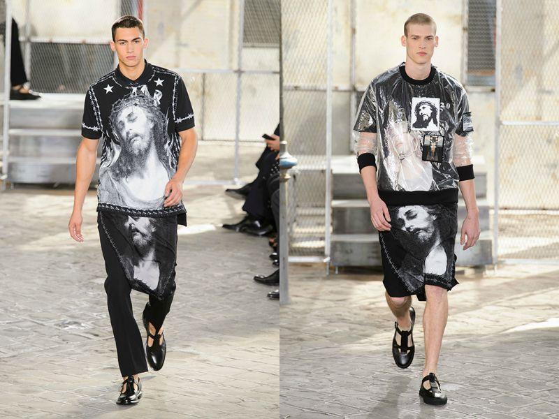 Модели на показе коллекции Givenchy