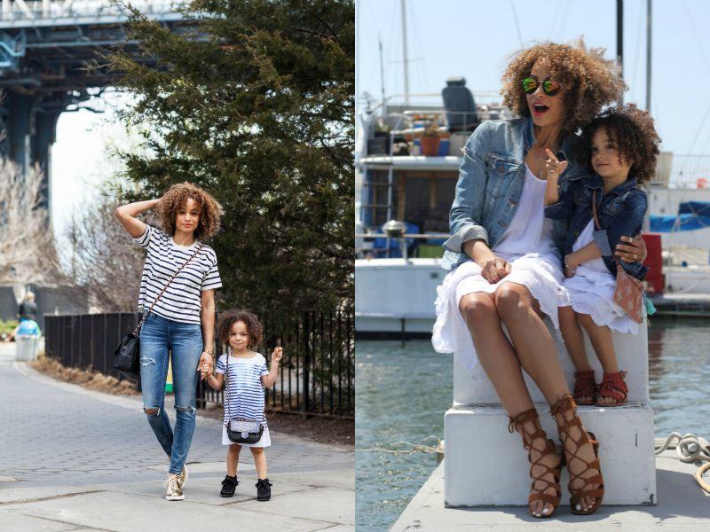 Мама с дочкой, одетые в стиле Family look
