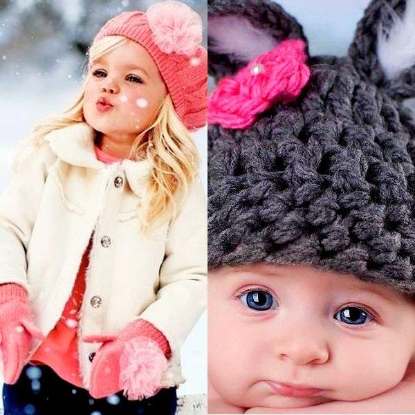 На фото красивые шапочки дл девочки