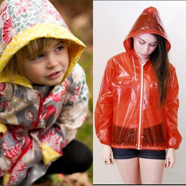 На фото плащи от дождя для девочек