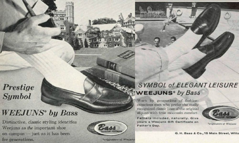 Рекламные постеры пенни-лоферов G.H.Bass