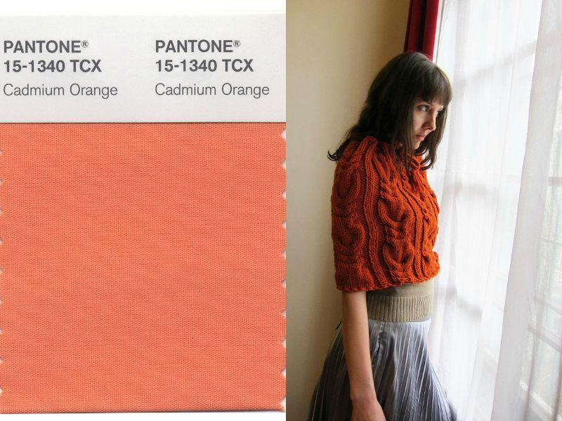оттенок Cadmium orange в одежде