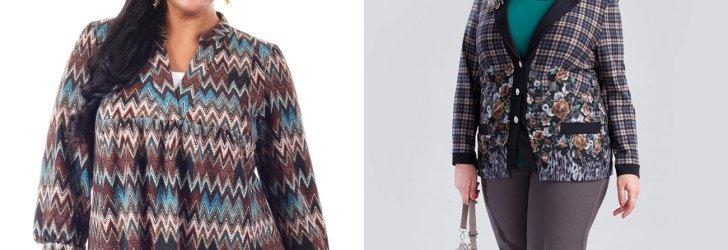 Осенняя одежда для полных 2015-2016
