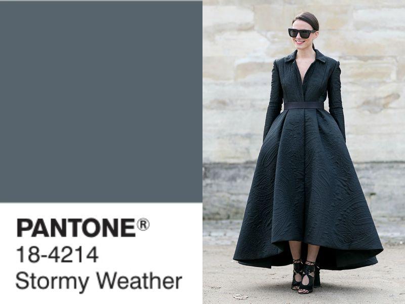 оттенок stormy weather в одежде