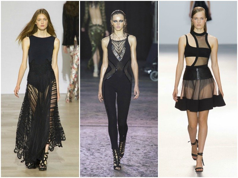 Чёрный в коллекциях Antonio Berardi, Julien Macdonald, David Koma