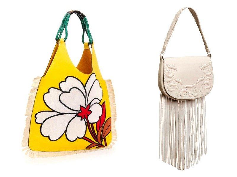 Сумки с цветочным принтом в сочетании с бахромой от Marni и H&M