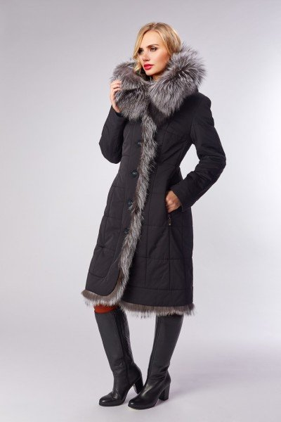Утепленная зимняя модель со стильной простежкой