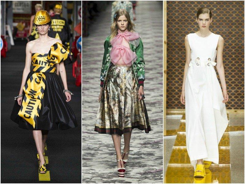 Банты в весенне-летних коллекциях Moschino, Gucci и Sportmax