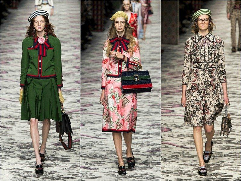 Береты, сумки и очки в весенне-летней коллекции от Gucci