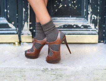 Обувь с открытым носком зимой: носить или не носить?