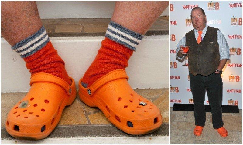 Оранжевые кроксы