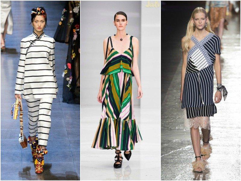 Полоска в коллекциях Dolce&Gabbana, Salvatore Ferragamo, Emilio Pucci