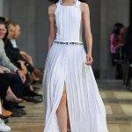 Белое платье в пол от Carolina Herrera