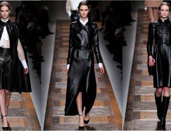 Модные женские плащи из кожи 2019-2020 года: оригинальные модели на фото