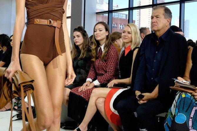 Оливия Уайлд на модном показе