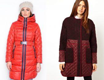Женские стёганые пальто
