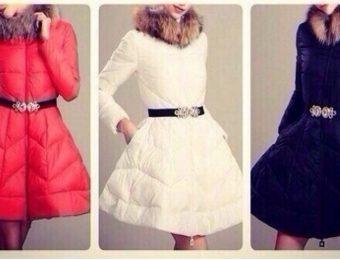 «Теплое платье» или пуховик с пышной расклешенной юбкой