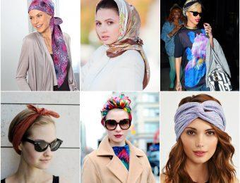 16 способов как завязывать платок на голове