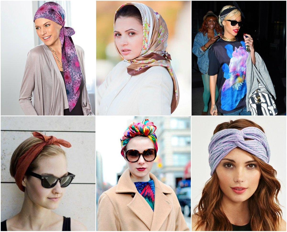 Как правильно завязать шарф на голову фото