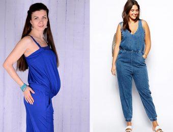 Летний комбинезон для полных женщин и беременных