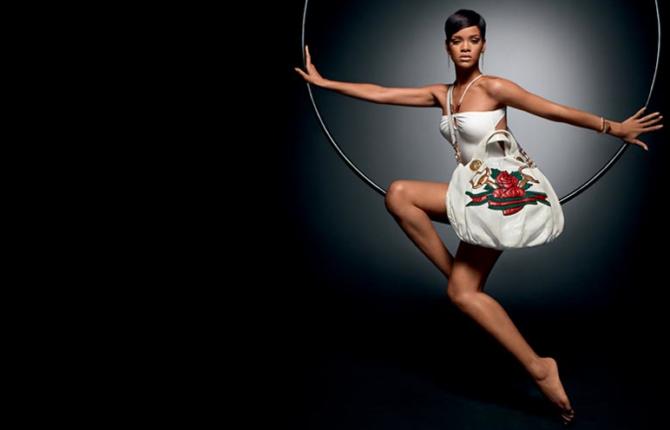 Рианна в рекламе Gucci