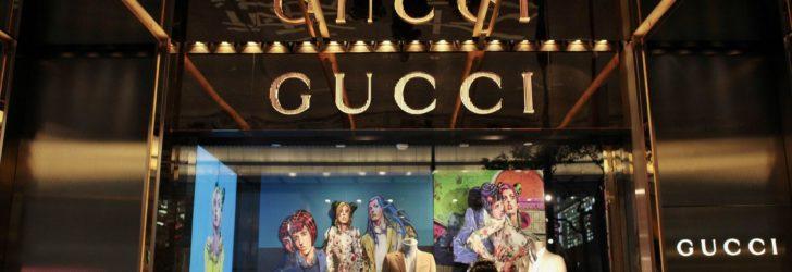 Витрина магазина Gucci