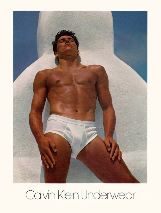 Том Хинтнаус в рекламе Calvin Klein