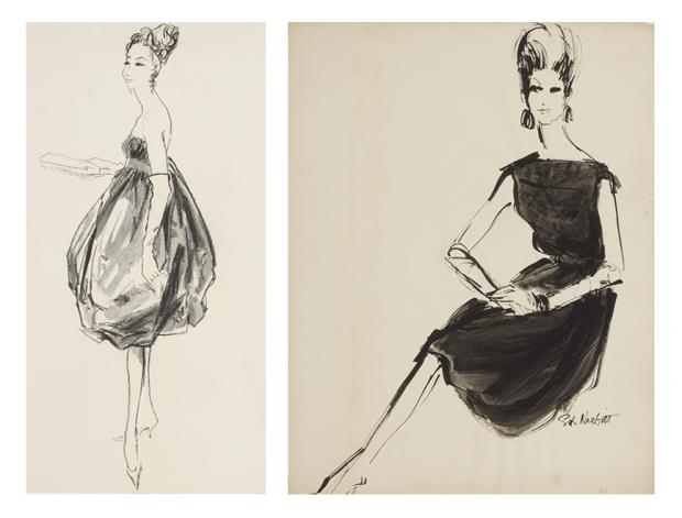 Коктейльные платья 1958 и 1960 годов